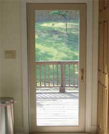 Hinged doors window mart for Single patio door with window