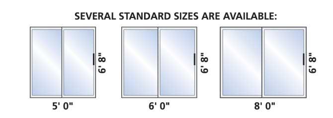 Sliding Glass Door Sliding Glass Door Sizes